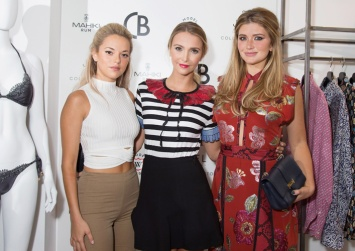 Natalie Joel, Sophie Hermann and Lauren Hutton