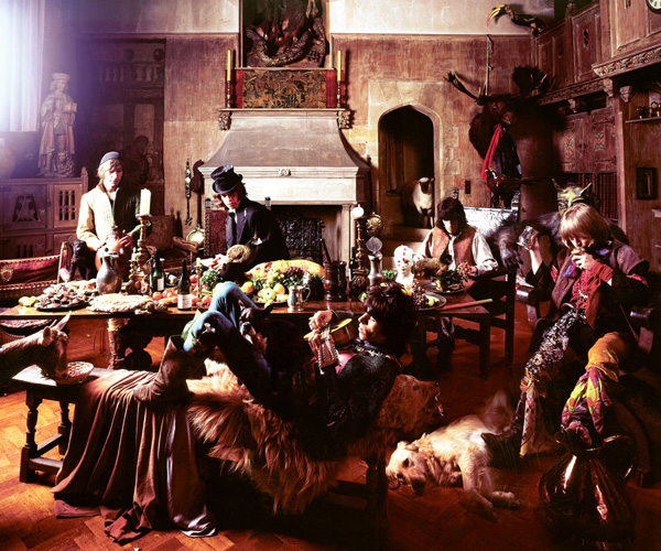 'The Banquet', outtake of The Rolling Stones from the Beggars Banquet photoshoot, Sarum Chase, Hampstead, 1968 © Michael Joseph