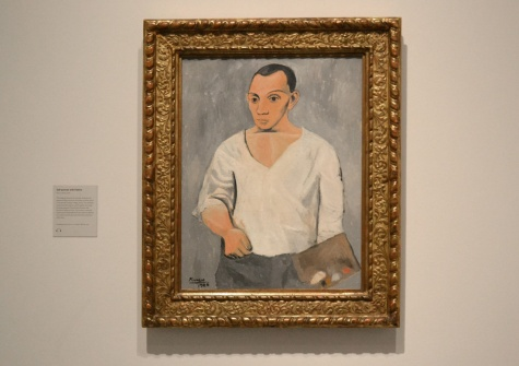 Self-Portrait with Palette by Pablo Picasso, 1906; Philadelphia Museum of Art: A. E. Gallatin Collection, 1950 © Succession Picasso / DACS London 2016