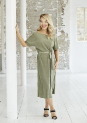 Green Belted Pleated Tie Dress, -ú28.00, The Katie Piper Collection with Want That Trend.Com (Lifestyle) (2)