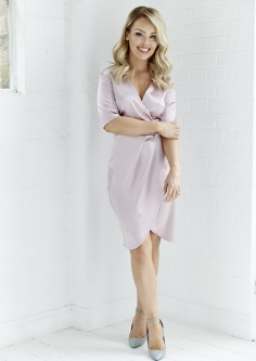 Pink Satin Wrap Over Dress, -ú34.95, The Katie Piper Collection with Want That Trend.Com (Lifestyle) (5)