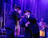 Joshua Mumby (Elwood Blues) & David Kristopher-Brown (Jake Blues) - The Blues Brothers - The Hippodrome - Photo By Darren Bell (1480)