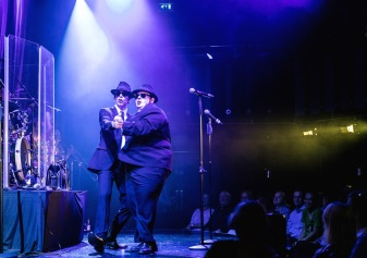 Joshua Mumby (Elwood Blues) & David Kristopher-Brown (Jake Blues) - The Blues Brothers - The Hippodrome - Photo By Darren Bell (1557)