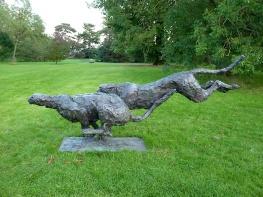 58 Pair of Running Cheetah by Sladmore Gallery Mark Coreth