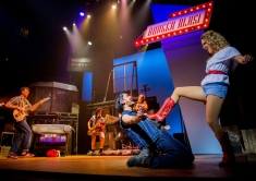 Connor Going as Chuck and Hannah Price as Ariel Moore in Footloose. Photo Credit Matt Martin