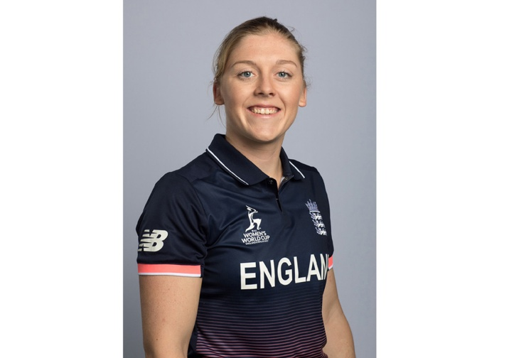 LOUGHBOROUGH, UNITED KINGDOM - MAY 24: Heather Knight of England poses for a headshot during the England Womens photoshoot at the ECB Performance Centre on May 24, 2017 in Loughborough, UK. (Photo by Tom Shaw/ECB)