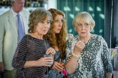 FROM ROLLEM (GIRLFRIENDS) LTD GIRLFRIENDS Picture shows: ZOE WANAMAKER as Gail Stanley, PHYLLIS LOGAN as Linda Hutchinson and WENDY CRAIG as Barbara Thackery Episode 2 Tensions flare at Sue's (MIRANDA RICHARDSON) birthday party when Andrew (PHILIP CUMBUS) confesses a big secret. Linda (PHYLLIS LOGAN) faces an accusation over Micky's death causing Sue and Gail(ZOE WANAMAKER)to take matters into their own hands. Gail tries to reconnect with her ex Dave (ADRIAN RAWLINS). This photograph is (C) iTV/Rolem (Girlfriends) Ltd and can only be reproduced for editorial purposes directly in connection with the programme or event mentioned above. Once made available by ITV plc Picture Desk, this photograph can be reproduced once only up until the transmission [TX] date and no reproduction fee will be charged. Any subsequent usage may incur a fee. This photograph must not be manipulated [excluding basic cropping] in a manner which alters the visual appearance of the person photographed deemed detrimental or inappropriate by ITV plc Picture Desk. This photograph must not be syndicated to any other company, publication or website, or permanently archived, without the express written permission of ITV Plc Picture Desk. Full Terms and conditions are available on the website www.itvpictures.com For further information please contact: Patrick.smith@itv.com 0207 1573044