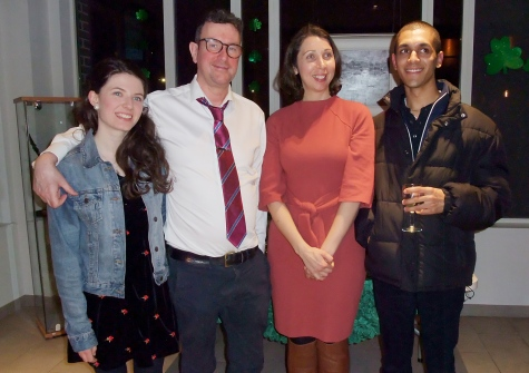 Siobhan Gallagher, Gavin McAlinden, Lauren Arrington {Head of Department of The Institute of Irish Studies}, Issa Nasiri {Playwright and Mary Manning's Great-Grandson)