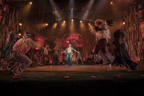 HAIR THE MUSICAL, , Director - Jonathan O'Boyle, Lighting - Bem M Rogers, Choreographer - William Whelton, Designer - Maeve Black, New Wimbledon Theatre, London, UK, 2019, Credit: Johan Persson