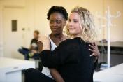 L-R Gemma Knight-Jones (Charlotte) & Natasha J Barnes (Cordelia) - Rehearsal Images - Falsettos - Photo by Matthew Walker - (4299)