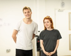 [L-R] Will Fletcher (Lenny) & Rosie Day (Billie) - The Girl Who Fell - Trafalgar Studios - Rehearsal Images - Photograph by Helen Maybanks (084)